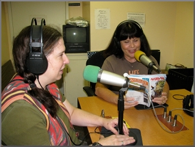 image of jolie mason and jody kepple in the broadcast studio